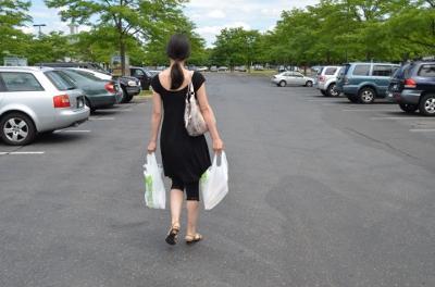 徒歩で買い物
