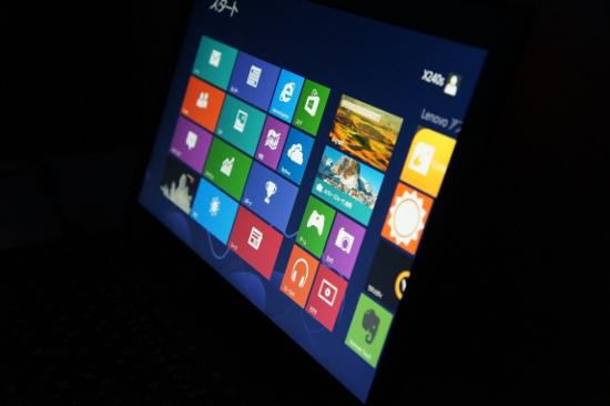 ThinkPad X240sの画面表示
