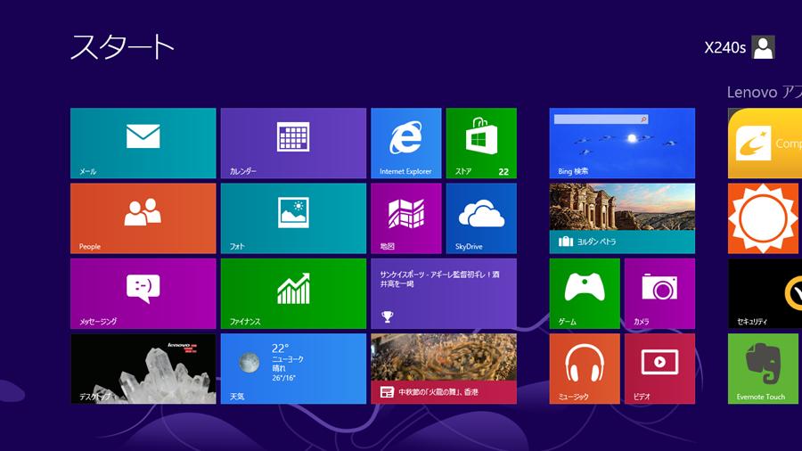 Windows 8 のスタート画面