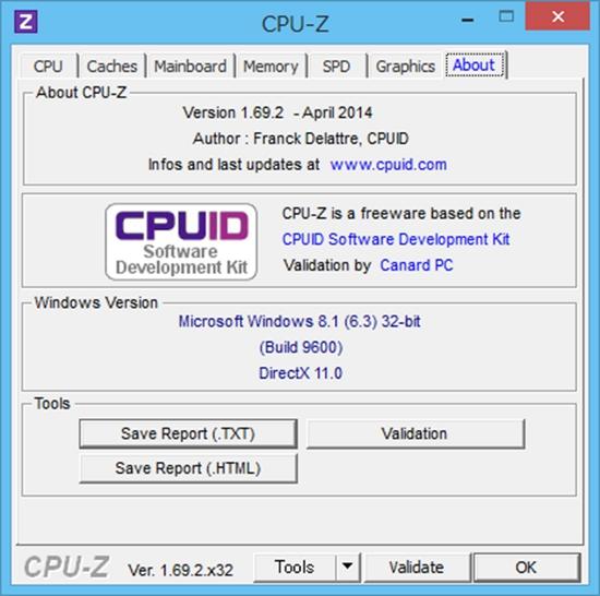 miix 2 8 128GBモデル CPU-Z 結果7