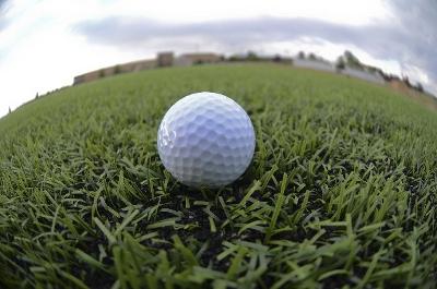 ゴルフの芝上のボール