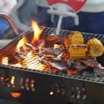 小春日和は煙が出ない炭火グリル「ロータスグリル」でバーベキューを楽しんではいかが