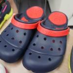 ミニ展示会で crocs(クロックス)の履き心地を試してみました。