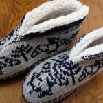 足元あったか『カウチンニットルームブーツ』寒い冬は室内でもルームシューズは必需品ですね!